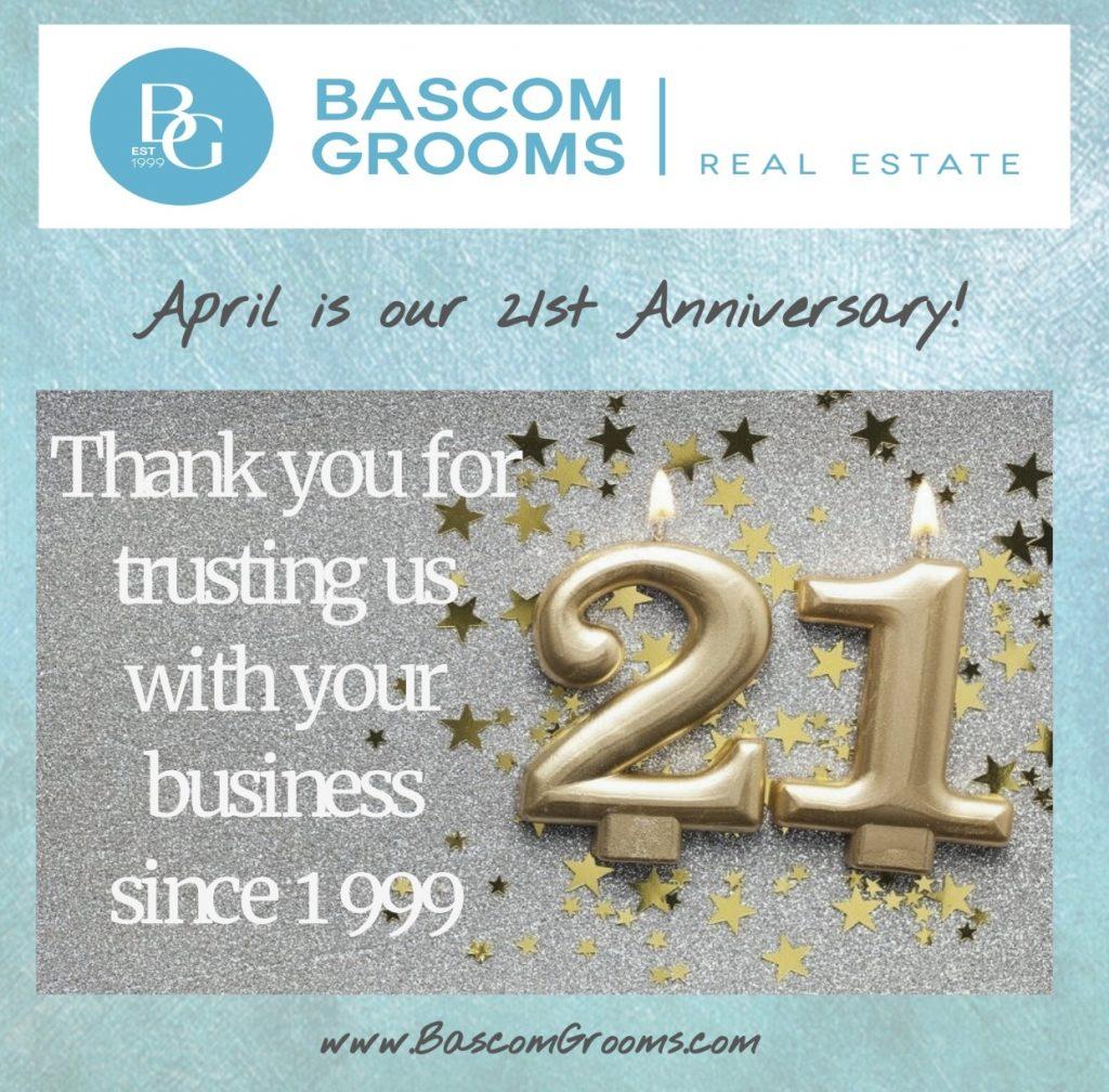 Bascom Grooms 21st Anniversary